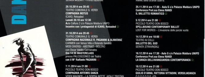 """IL CARTELLONE DELL' XI FESTIVAL DI DANZA """"LASCIATECI SOGNARE…"""""""
